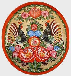 Discussion on LiveInternet - The Russian Online Diaries Service Polish Folk Art, Painting Templates, Russian Folk Art, Different Kinds Of Art, Russian Painting, Naive Art, Traditional Art, Creative Inspiration, Flower Patterns