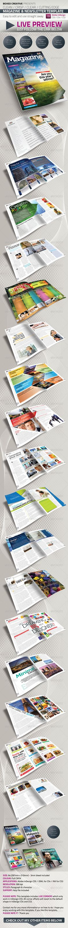 36 Page Magazine / Newsletter Template - Magazines Print Templates