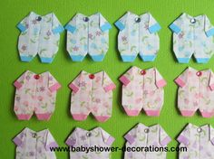 Japanese Origami Baby Onesie Baby Clothes-A Set of 12 - http://www.babyshower-decorations.com/japanese-origami-baby-onesie-baby-clothes-a-set-of-12.html