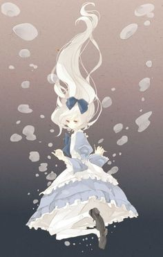 This type of art reminds me of Alice the Madness Returns. (but with a bit more of a typical Alice) Manga Anime, Art Manga, Anime Chibi, Manga Girl, I Love Anime, Awesome Anime, Chat Origami, Arte Obscura, Image Manga