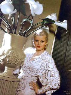 Jean Harlow {Technicolor} with cala lilies                              …