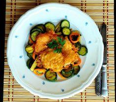 Sajtkéregben sült hal - kezdőknek is sikerülni fog, és nem is hizlal Ratatouille, Ethnic Recipes, Food, Eten, Meals, Diet
