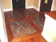 Image result for brick and wood floor