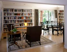 Want this library cum dining room mix by Tim Cuppett Architects for my next house...it it's big enough!