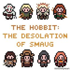 The Hobbit Cross Stitch Pattern  The Desolation by XStitchMyHeart, £2.50