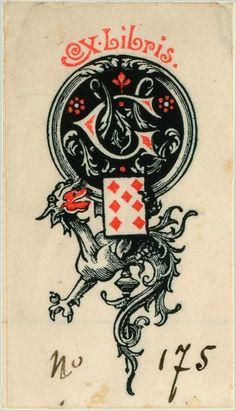 7♦ Ex libris du collectionneur Georges Marteau Jeu de cartes aux enseignes latines Venise, 1753. BnF, Département des Estampes et de la photogr...