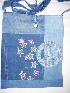 Recycled Blue Jean Purse. 1950s Vintage Levis Ranch Work Well Worn