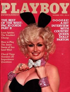 Dolly Parton on the cover of Playboy, October 1978.