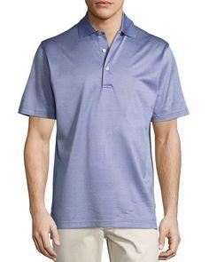 Wink Jacquard Cotton Lisle Polo Shirt