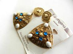 1970 Couture Parisienne long dangling earrings  by RAKcreations