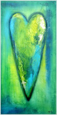 """""""smaragd love"""" acrylic on canvas"""