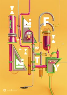 Infinity by Peter Tarka #typography #3D