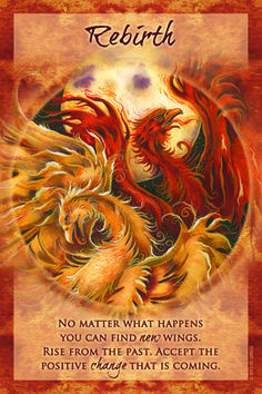 """Magical Times Empowerment Cards – Rebirth – """"No matter what happens you can find new wings. Rise from the past. Accept the positive change that is coming."""""""