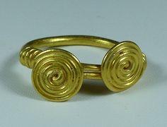 Celtic Gold Spiral Ring, C. 50 BC