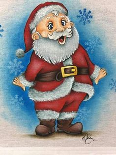 Encontrado en Facebook China Painting, Tole Painting, Fabric Painting, Merry Christmas Santa, Christmas Art, Christmas Ornaments, Scrapbook Images, Christmas Yard Decorations, Halloween Clipart