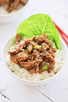 Crock Pot Honey Sesame Pulled Pork - the easiest and best pulled pork recipe made with a crock pot or slow cooker, in an amazing honey sesame sauce | rasamalaysia.com