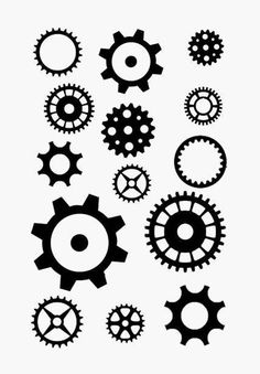Steampunk Gears Clear Stamp PMC Scrapbooking by tonjastreasures, $7.99
