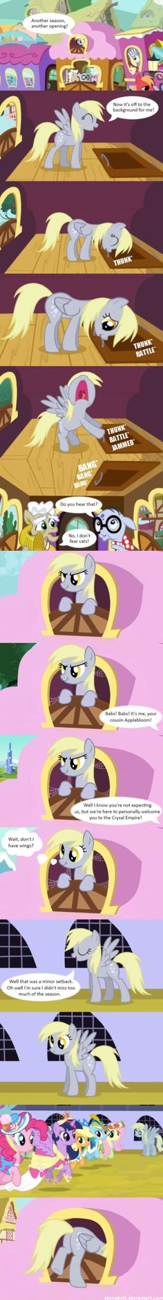 Stonebolt - Mystery Solved. Why we hardly saw Derpy.