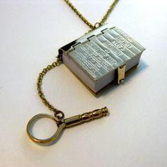 Bookworm Dictionary Necklace - £26.00