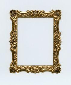 DRESDEN FRAME  Old Gold Scalloped Frame by OneDayLongAgo on Etsy, $3.10