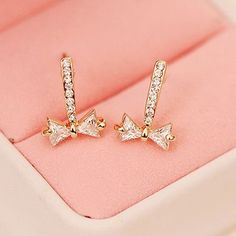 Pair of Bowknot #Earrings For Women     #accessories  http://to.faearch.me/1J5TsaB