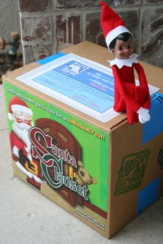 """The children awoke & searched the house for their special elf, Jack. He was nowhere to be found. Finally, they were prompted to check OUTSIDE the house. And there on the front porch, sitting on a surprise Santa Clauset Misfit Toys shipment from Santa Claus, was Jack! In the customized letter from Santa on the package, he asked the children to please thank their """"Jack the Elf"""" for helping Polar Bear Post ship the Santa Clauset package down from The North Pole! ORDER at…"""