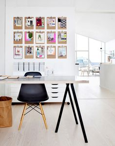 Office / Hound Design- clipboards on the wall!