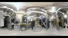 A 360 video of the IBM Quantum Lab at the IBM T. Watson Research Center in Yorktown Heights, N. Inside, IBM scientists are researching and building a pra. Yorktown Heights, Weird World, Ibm, Science And Technology, Research, Ceiling Lights, Explore, Innovation, Computers