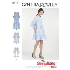 Simplicity 8414 Misses' Dress By Cynthia Rowley sewing pattern