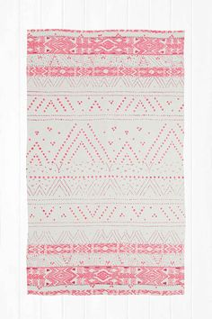 Moon Geometric 3x5 Rug in Pink - Urban Outfitters