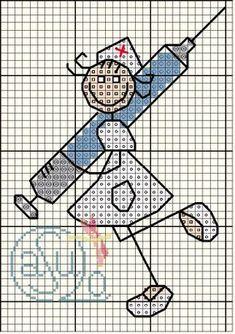 0 point de croix infirmière - cross stitch nurse                                                                                                                                                                                 Mais