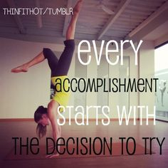 Every Accomplishment starts with a Decision to Try. Are you up for the challenge? VISALUS is calling your name