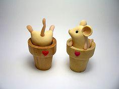 Polymer clay mice
