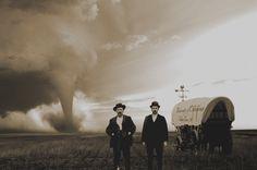 old school tornado chaser