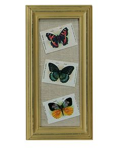 $13.50 {Vintage Charm} Tokio Butterflies in a Distressed Frame ~Enjoy one decor deal a day from WUSLU ~www.wuslu.com