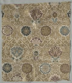Brocaded silk and metal panel, Italy, late 16th c.