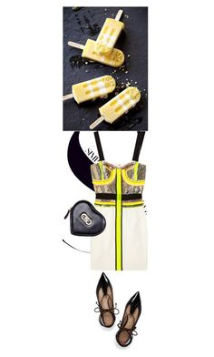 """""""Neon Accent"""" by shaneeeee ❤ liked on Polyvore featuring sass & bide, Salvatore Ferragamo and Tory Burch"""