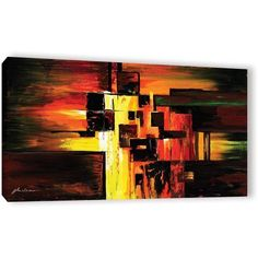 ArtWall Milen Tod Construct Gallery-wrapped Canvas, Size: 18 x 36, Red