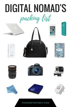 Digital Nomad Packing List: Tech & Accessories I Can't Live Without - Modern Packing Tips For Travel, Travel Hacks, Travel Gadgets, Travel Deals, Travel Essentials, Packing Hacks, Europe Packing, Traveling Europe, Vacation Deals