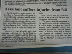 quite possibly the best newspaper articles ever. ....don't mess with the Marines.... :)