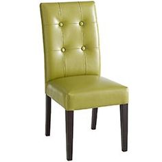 Nook Chairs  $119  http://www.pier1.com/Catalog/Furniture/tabid/981/CategoryId/155/ProductId/33364/ProductName/Mason-Bonded-Leather-Dining-Chair--Avocado/language/en-US/Default.aspx
