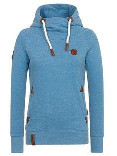 Details zu Naketano Brazzo brown melange Sweatshirt Hoodie Damen Mädchen Gr. L neuwertig