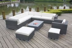 Model NO.:MS-6015  1*Left/Right sofa:130*80*70 cm 2*Armless sofa:60*80*70cm  1*Corner sofa:80*80*70cm  1*Single sofa:80*80*70cm  1*Coffee table:100*60*32cm 2*Ottoman:60*60*32cm  Material:PE RATTAN+ALU FRAME  FOB Price:$680  MOQ:5 Sets