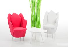 Funky furniture bruehl chairs Morning Dew Chairs & Sofas Look Like Flower Petals