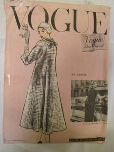 Vintage 1950's Vogue Paris Original Ladies 1 Piece Dress & Coat Pattern Size 16