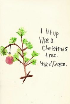 Fault in our stars, Christmas trees and Stars on Pinterest