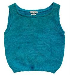 A knitted mohair and wool vest top owned by Marilyn Monroe.