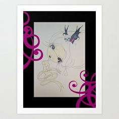 DirtBAGG WANTED Art Print by Twisted PinUps - $17.68