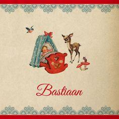 Lief retro #geboortekaartje in echte #vintage look! Retro Kids, Baby Birth, Christmas Pictures, Vintage Pictures, Baby Cards, Bambi, Vintage Cards, Little Babies, My Childhood