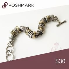 Premier Designs Park Avenue Toggle Bracelet Premier Designs Park Avenue Toggle Bracelet Antiqued matte gold plated with silver plating. New without Tags Approximately 8-8 3/4 inches with a toggle clasp. Look for the necklace in my closet or other styles to match. Premier Designs Jewelry Bracelets Premier Designs Jewelry, Jewelry Design, Park Avenue, Matte Gold, Jewelry Bracelets, Plating, Fashion Tips, Fashion Design, Cosmetics